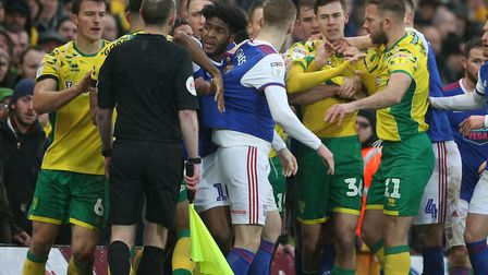 Todd Cantwell was caught up in one of the derby flashpoints that led to FA charges for Norwich City,