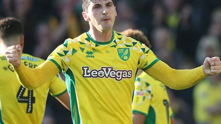 Kenny McLean savours his salvo in Norwich City's 3-2 Championship win over Bristol City Picture: Pau