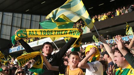 The lower Barclay was a wall of noisy yellow and green again as supporters roared Norwich to victory
