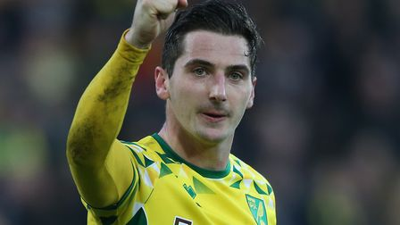 Kenny McLean celebrates scoring twice after Norwich had beaten Bristol City 3-2 at Carrow Road Pictu