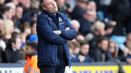 Millwall manager Neil Harris has plenty to ponder following home defeat to Norwich City. Picture: Pa