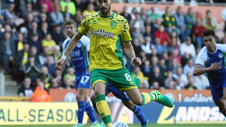 Mario Vrancic's late penalty earned Norwich City a 1-0 win over Wigan at Carrow Road in September Pi