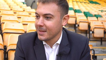 Norwich City's chief operating officer Ben Kensell spoke to the media at Carrow Road Picture: Tony T