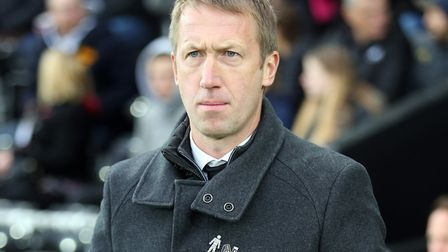 Swansea City manager Graham Potter before his team's 4-1 defeat to Norwich City at the Liberty Stadi