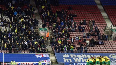 Over 650 Norwich City fans made the trip to Wigan the last time the Canaries played at the DW Stadiu