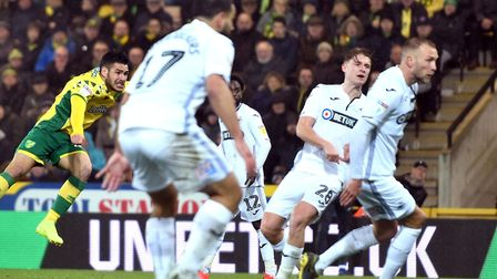 Emi Buendia lets fly - and earns Norwich City three valuable points against Swansea at Carrow Road P