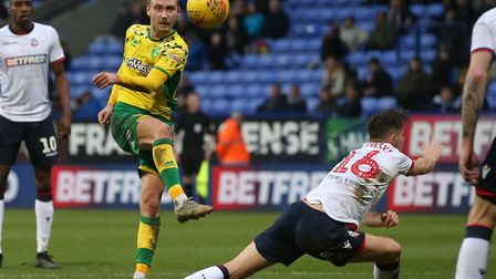 Tom Trybull tries his luck as Norwich City pick up their 18th victory of the Championship season at