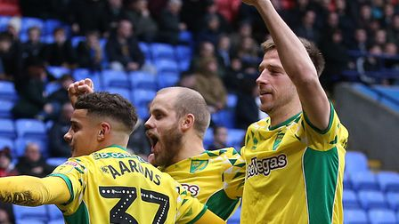 Teemu Pukki and Marco Stiepermann have forged a fearsome double act at Norwich City Picture: Paul Ch