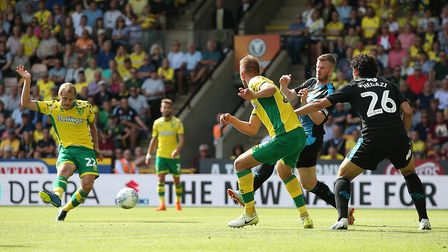 Where it all began - Teemu Pukki scores his first senior goal for City, at home to West Brom Picture