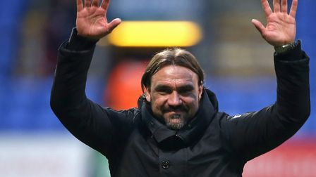 Will Daniel Farke be celebrating the biggest victory of all at the end of the season? Picture: Paul