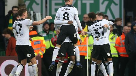 Derby won 4-3 at Carrow Road in December Picture: Paul Chesterton/Focus Images