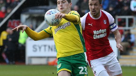 Kenny McLean produced a wonderful piece of chest control to give Norwich City a half-time lead at Ro