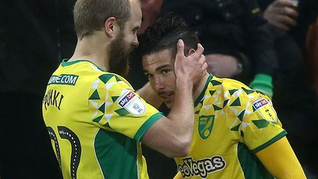 Emi Buendia pounced to earn Norwich City a Championship win over Swansea City Picture: Paul Chestert