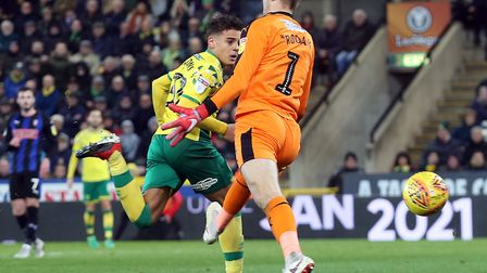 A first league goal arrived in December for Max Aarons, scoring a header as Norwich City won 3-1 at