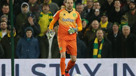 Tim Krul in action during Norwich City's 3-2 win over Hull on Wednesday Picture: Paul Chesterton/Foc