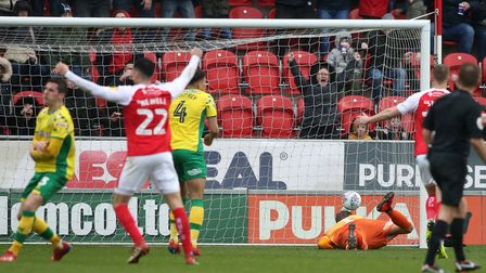 Semi Ajayi fine strike left Norwich City keeper Tim Krul with little chance as Rotherham equalised e