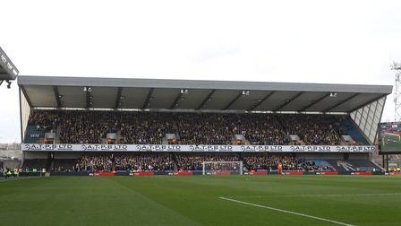 Tim Krul of Norwich in front of the 3200 traveling Norwich fans during the Sky Bet Championship matc