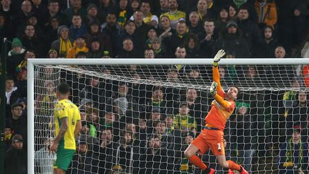 Tim Krul's flying save helped pave the way for Norwich City's Carrow Road victory over Swansea. Pict
