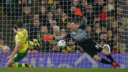 Michael McGovern in action for Norwich City against Portsmouth in the FA Cup in January Picture: Pau