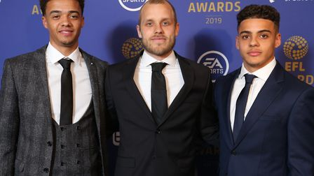 Norwich City's Jamal Lewis, Teemu Pukki and Max Aarons were all named in the EFL Championship team o
