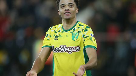 Jamal Lewis, pictured celebrating the Carrow Road win over Swansea last month, has been remarkably c