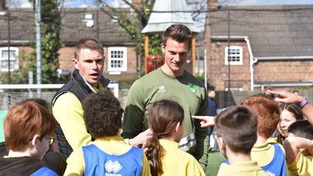 Christoph Zimmermann was a popular figure at Carrow Park this week to help promote the work of the C