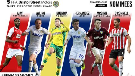 The Bristol Street Motors PFA Championship Player of the Month nominees for March 2019 Picture: PFA