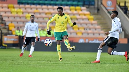 Devonte Aransibia was on target when Norwich City under-23s last faced Middlesbrough Picture: Archan