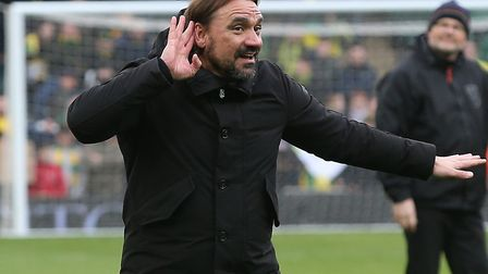 Norwich City head coach Daniel Farke has asked fans to crank up the noise at Carrow Road for tonight