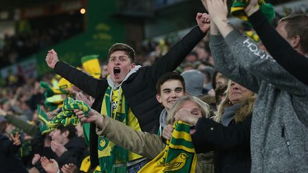 Norwich City fans were in fine voice at Carrow Road on Wednesday and 5,300 will be following their t