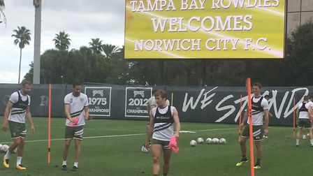 Norwich City held an open training session at the Al Lang Stadium during their Tampa tour in Novembe