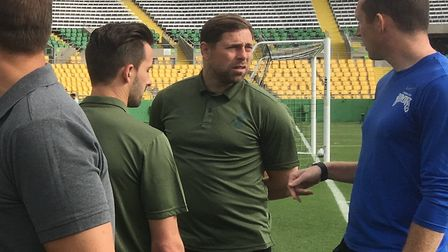 Norwich City held an open training session during their Tampa tour - Adam Drury and Grant Holt speak