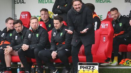 Head coach Daniel Farke has inspired a promotion push at Norwich City this season Picture: Paul Ches