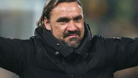 Daniel Farke has defied expectations to get Norwich City in the promotion shake up Picture: Paul Che