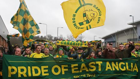 Norwich City fans will turn out in force home and away for the final push Picture: Paul Chesterton/F