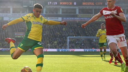 Max Aarons registered his fifth assist of the season when he set up Ben Godfrey during last month's