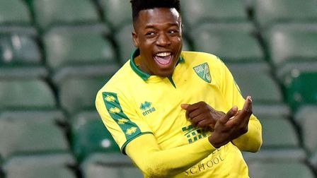 Timi Odusina, pictured celebrating scoring in the FA Youth Cup last season, is on loan at National L
