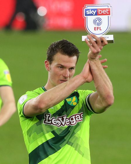 Sky Sports named Norwich City defender Christoph Zimmermann their man of the match at the Riverside