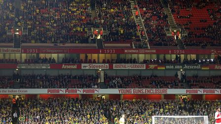 Norwich City took over 8,700 supporters to Arsenal in October 2017 Picture: Paul Chesterton/Focus I