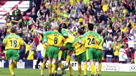 Around 4,500 Norwich City supporters were at Barnsley in April 2002, as a 2-0 win kept Nigel Worthin