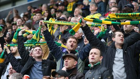 Over 2,600 fans were supporting Norwich City at Rotherham - but 5,000 are heading to Wigan Picture: