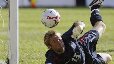 Robert Green, pictured in friendly action against Colombia in 2005, earned 12 England caps Picture: