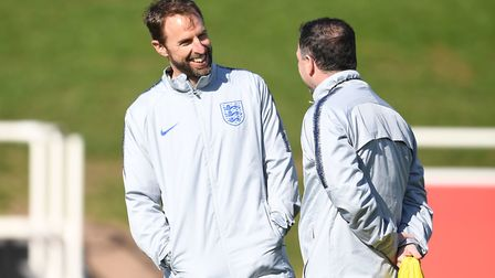 England manager Gareth Southgate during a training session at St George's Park Picture: PA