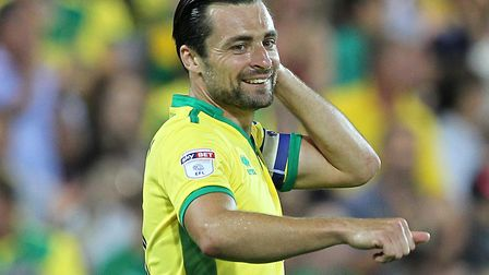 Russell Martin scored 17 goals in 309 games for Norwich City, pictured here celebrating during a 6-1