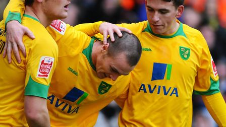 Michael Rose, centre, and Cody McDonald both scored as the City team of 2009-10 beat Hartlepool to w