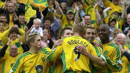 Darren Huckerby's late winner against Preston sealed a seventh successive win for the Canaries team