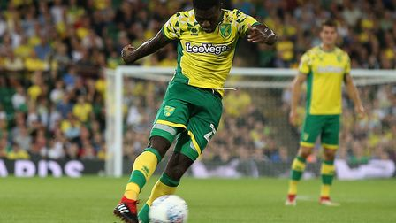 Alex Tettey smashed in a late winner for the Canaries against Preston in August Picture: Paul Cheste
