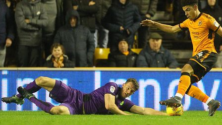 Christoph Zimmermann literally put his body on the line for Norwich City last season at Wolves Pictu