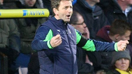 Tim Sherwood at Carrow Road during his time in charge at Tottenham, during a 1-0 Premier League win