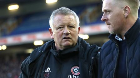 Sheffield United manager Chris Wilder (left) and Birmingham City manager Garry Monk prior to the Sky
